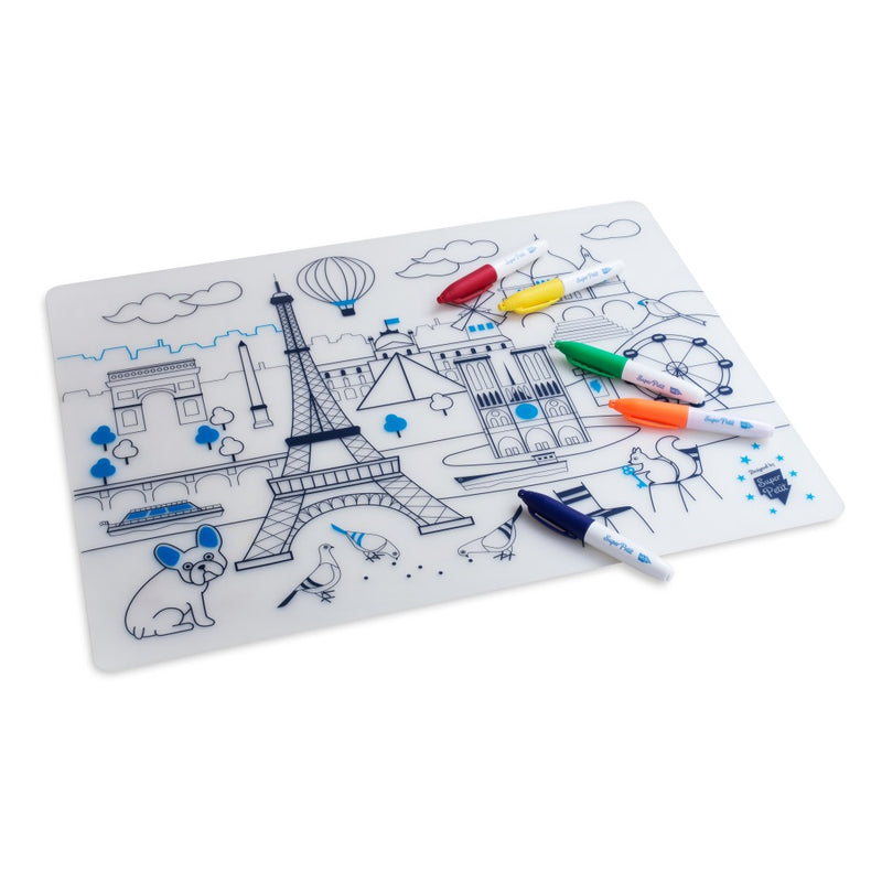 Superpetit Coloring Table Mat Paris Maison Marcel