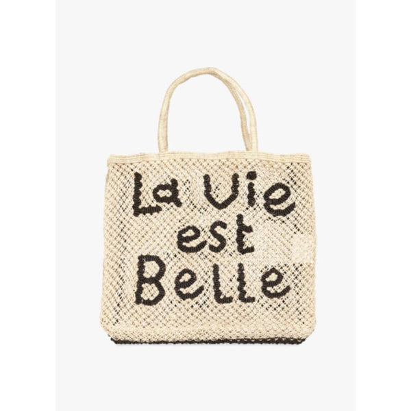 La Vie Est Belle Indigo Natural Bag
