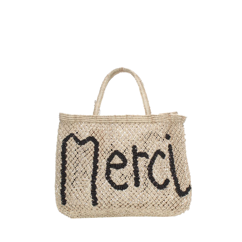Merci Black Natural Bag