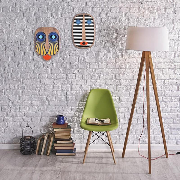 Umasqu Mask Light Blue & White Stripes Maison Marcel