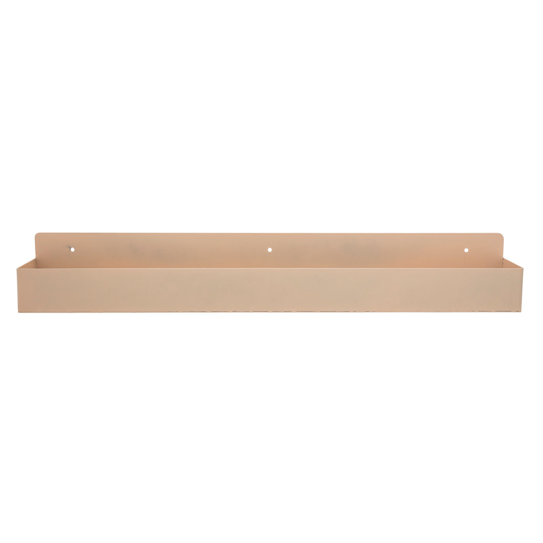 Bardo wall shelf - tan metal