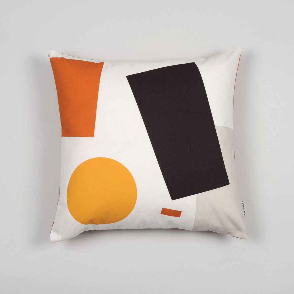 Shapes Cushion 004 - Orange tones