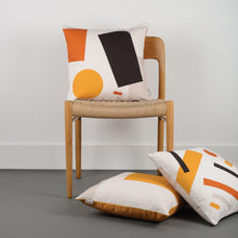 Load image into Gallery viewer, Shapes Cushion 005 - Orange tones