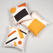 Load image into Gallery viewer, Shapes Cushion 004 - Orange tones