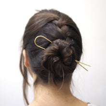 Load image into Gallery viewer, Minimal Brass Hair Pin
