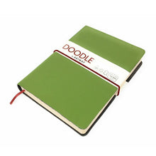 Load image into Gallery viewer, Doodle Soft Leather Sketchbook - Green