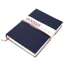 Load image into Gallery viewer, Doodle Soft Leather Sketchbook - Navy