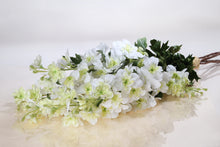 Load image into Gallery viewer, Stunning Silk White Delphinium