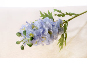 Silk light blue double delphinium