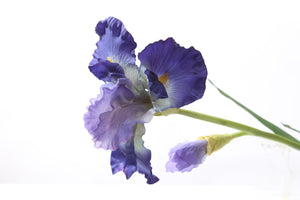 lovely single artificial purple iris