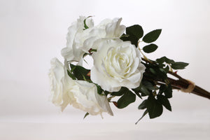 Stunning bunch of  ivory artificial Hybrid tea roses