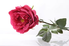 Load image into Gallery viewer, Stunning artificial dark pink Old English rose bud