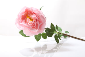 Stunning artificial light pink Old English rose bud
