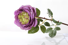 Load image into Gallery viewer, Stunning artificial mauve Old English rose bud