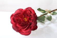 Load image into Gallery viewer, Stunning silk red Old English rose bud