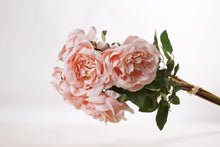Load image into Gallery viewer, Lovely bunch of silk Old English blush pink roses