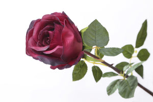 Gorgeous large dark red faux rose bud