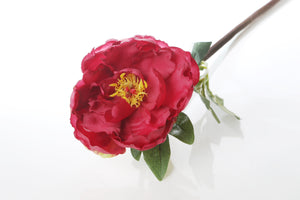 Dynamic red single artificial peony
