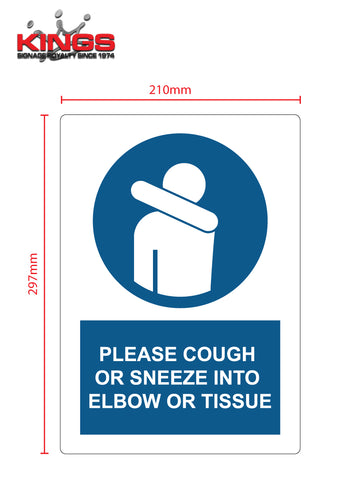 COVID-19 Safety Signs - Cough/Sneeze