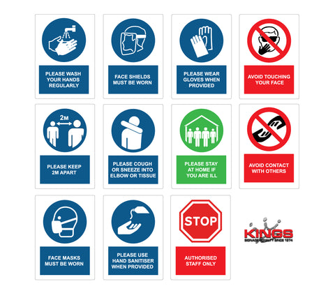 COVID-19 Safety Signs - FULL SET