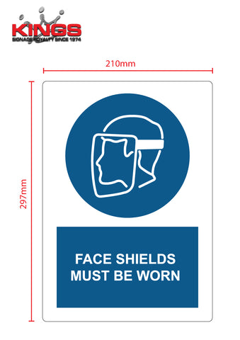COVID-19 Safety Signs - Face Shields