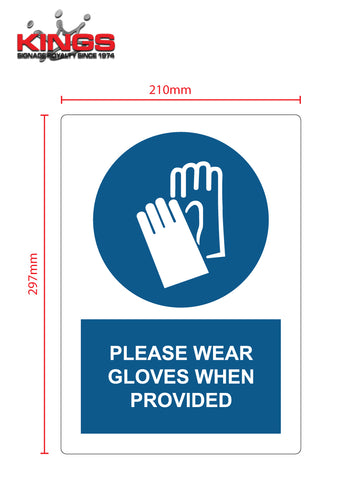 COVID-19 Safety Signs - Gloves