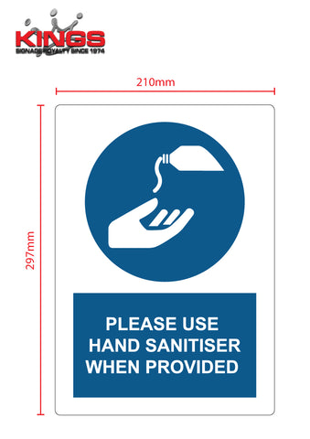 COVID-19 Safety Signs - Hand Sanitiser