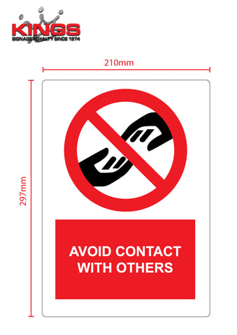 COVID-19 Safety Signs - No Touch