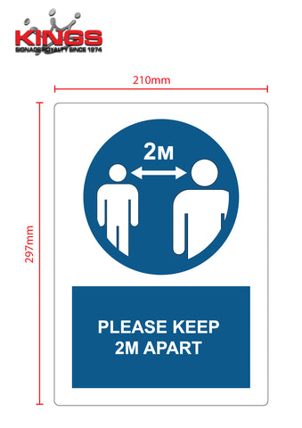 COVID-19 Safety Signs - 2M Social