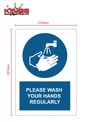 COVID-19 Safety Signs - Wash Hands
