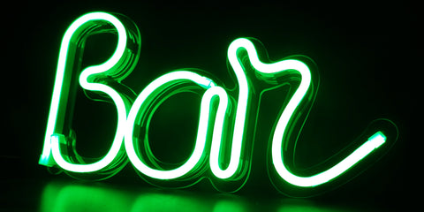 Kings LED Neon Sign - Bar