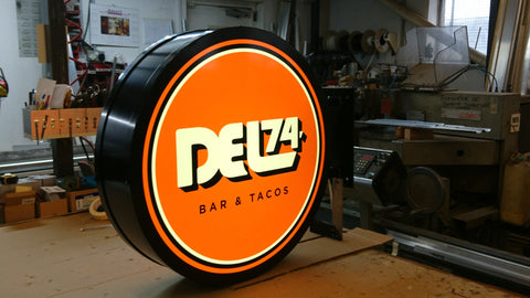 750mm Dia D/Side Circular LED Projecting Lightbox