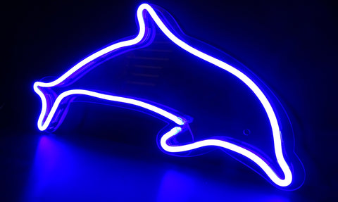 Kings LED Neon Sign - Dolphin