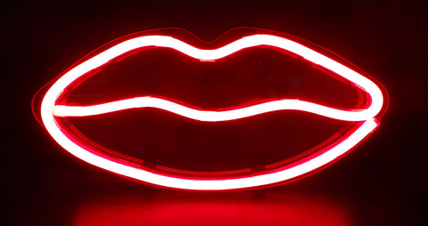 Kings LED Neon Sign - Lips
