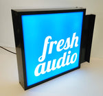 400x300mm D/Sided Lightbox with projecting bracket - Custom Text