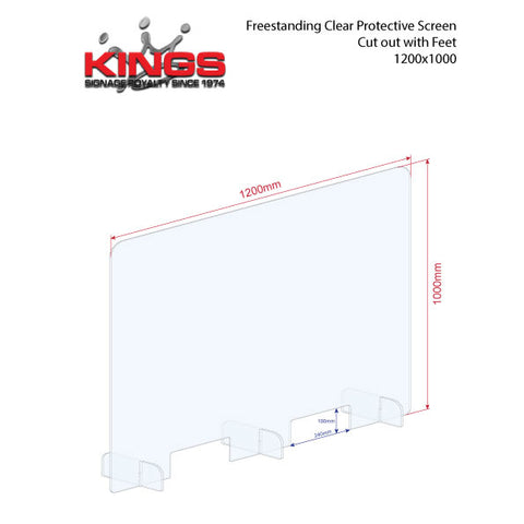 Clear Protective Screen - 1200mm x 1000mm