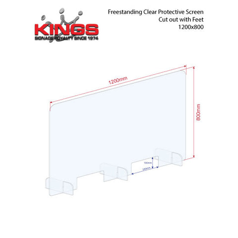 Clear Protective Screen - 1200mm x 800mm