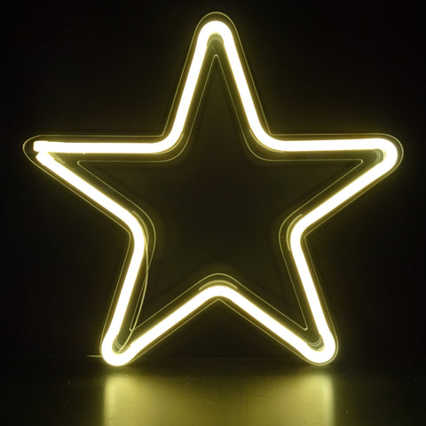Kings LED Neon Sign - Star