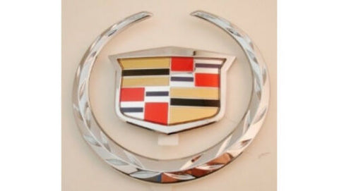 XLR V SERIES CHROME GRILLE WREATH AND CREST EMBLEM 2004-2009