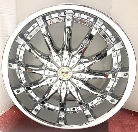 """POINT"" CHROME 20"" X 8.5"" SET OF 4 WHEELS"
