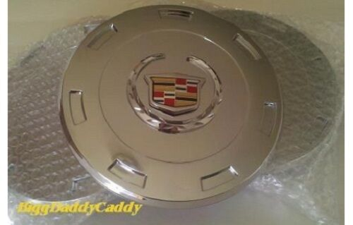 "ESCALADE 22"" CHROME FACTORY EMBLEM CENTER CAPS 2007 THRU 2009 SET OF 4"
