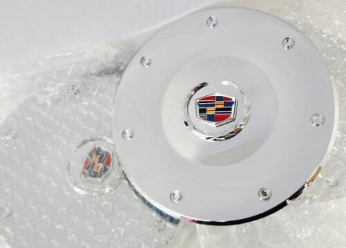 CTS CHROME FACTORY STYLE EMBLEM CENTER CAPS SET OF 4 2003 AND 2004 ONLY