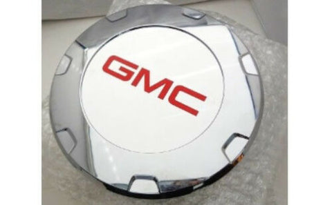 "ESCALADE 22"" RED GMC LOGOS CENTER CAPS 2010 THRU 2014 SET OF 4"