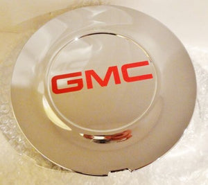 "ESCALADE 22"" RED GMC LOGOS CENTER CAPS 2015 THRU 2020 SET OF 4 FLAT"