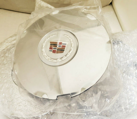 "CTS 17"" CHROME FACTORY OEM SILVER CENTER CAP 2008 AND 2009 SET OF 4"