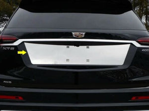 Cadillac XT6 POLISHED STAINLESS STEEL REAR LICENSE PLATE TRIM
