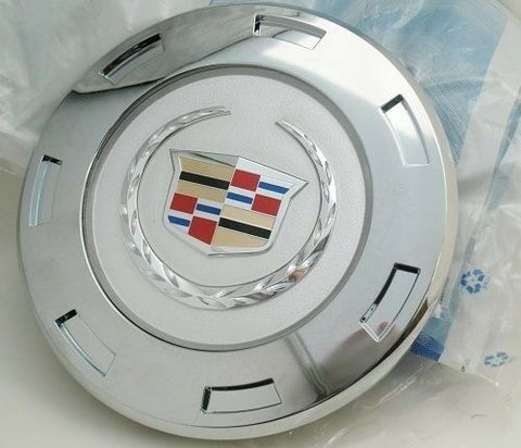 "ESCALADE 22"" FACTORY COLORED WREATH AND CREST CHROME SINGLE CENTER CAP 2007 THRU 2009"