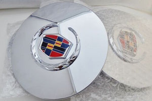 "ESCALADE 17"" AND 20"" CHROME FACTORY STYLE EMBLEM CENTER CAPS SET OF 4"
