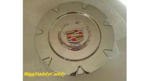 "ESCALADE 18"" CHROME FACTORY EMBLEM CENTER CAPS SET OF 4"