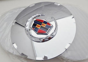 "CTS 17"" CHROME FACTORY STYLE EMBLEM 2008 AND 2009 ONLY SET OF 4"